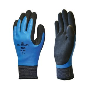 Showa 306 – fully waterproof grip gardening gloves