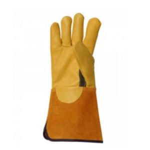 Predator – leather gauntlet gardening gloves.