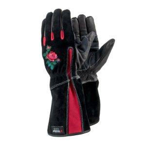 Tegera 90050 – ladies leather gauntlet gardening gloves.