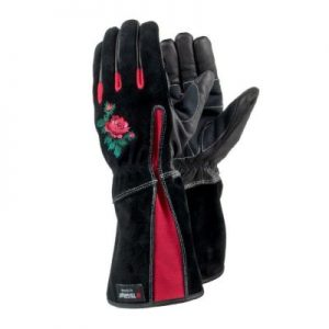 Tegera 90050 – ladies leather gauntlet gardening gloves.