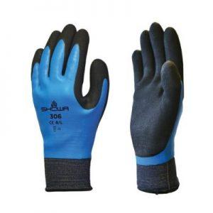 Showa 306 – fully waterproof grip gardening gloves